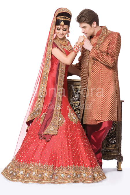 Red indian wedding dresses images for Wedding dresses in india