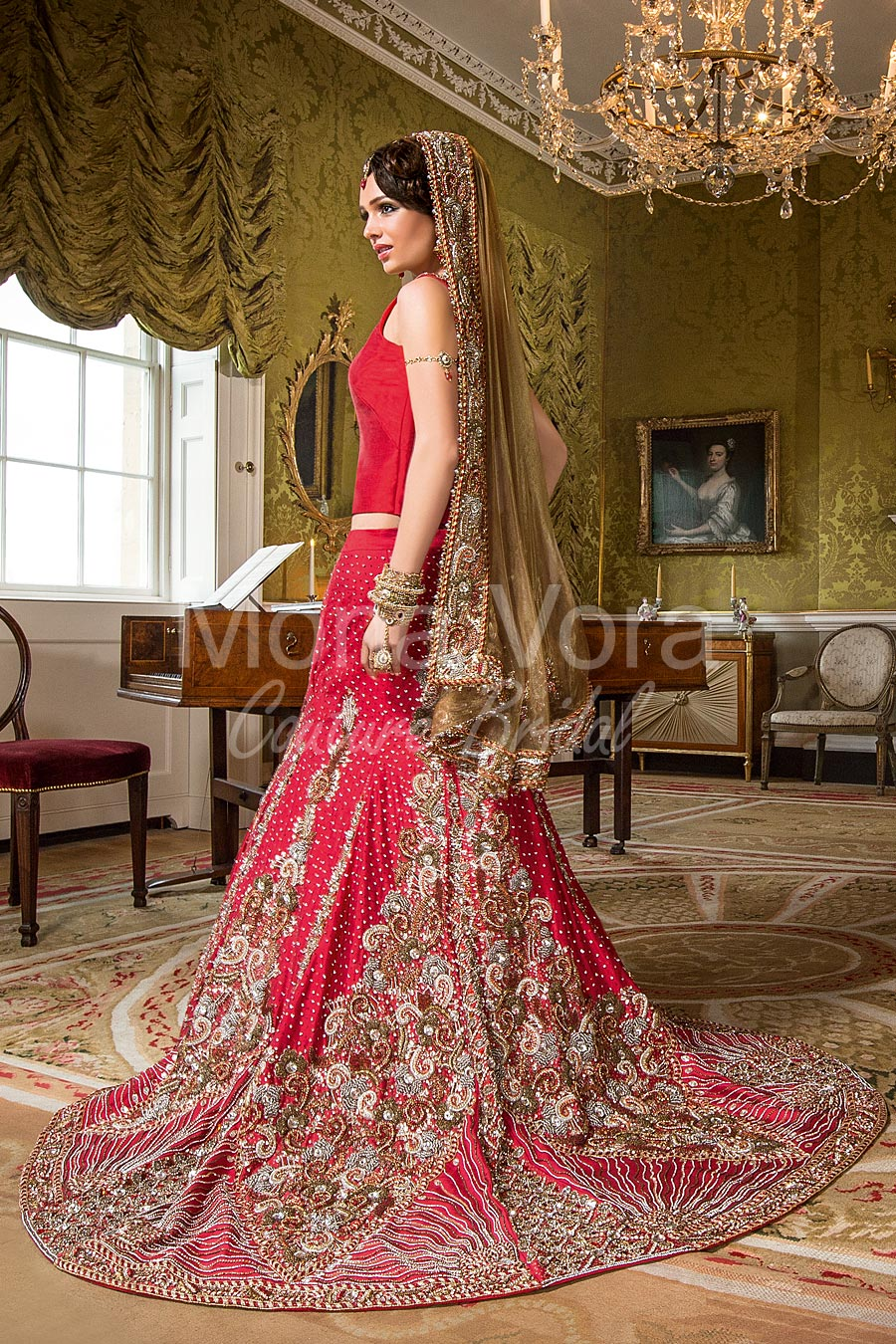 item code br030  asian bridal wear  fusion dresses