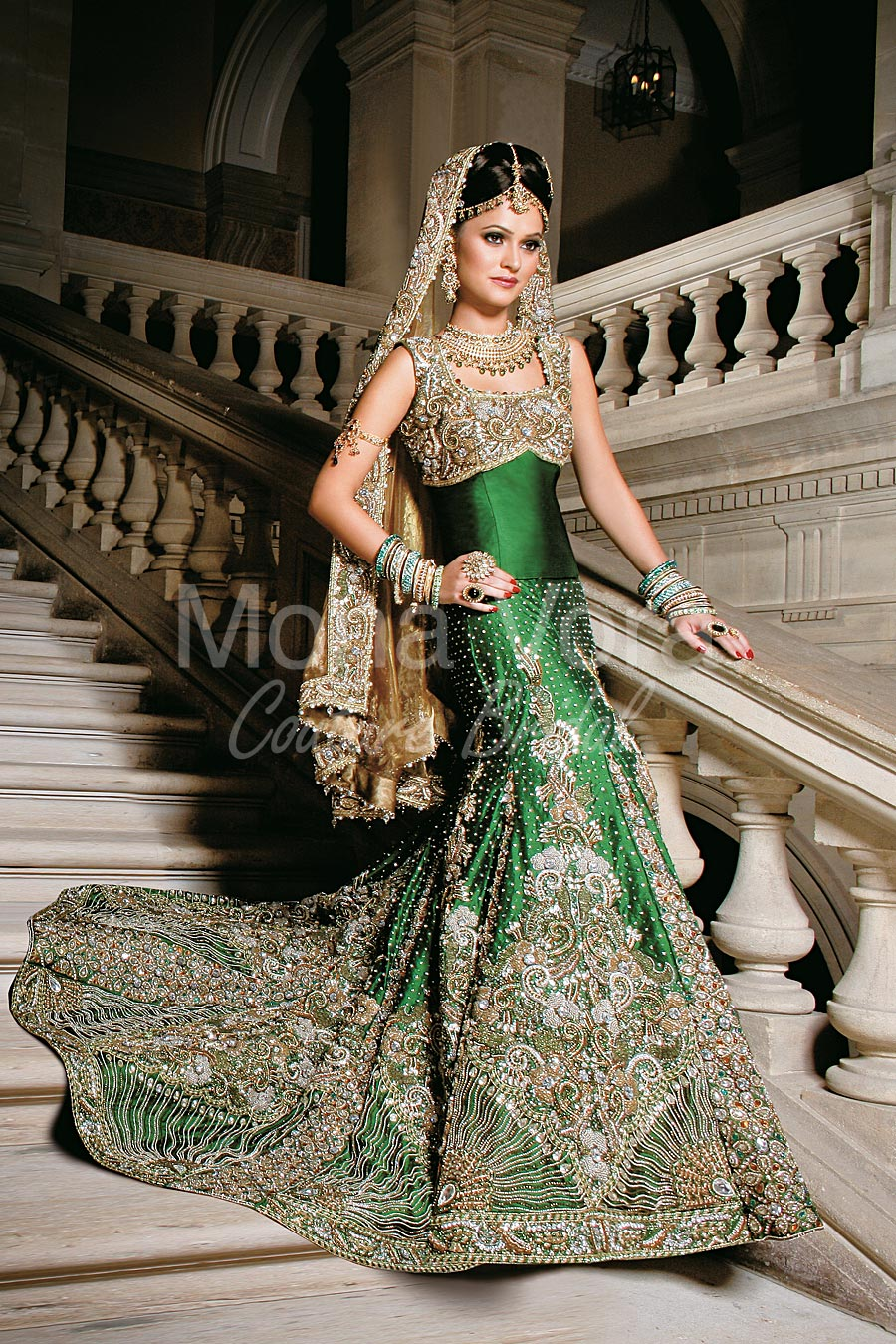 Item Code Bv301 Asian Bridal Wear Fusion Dresses By