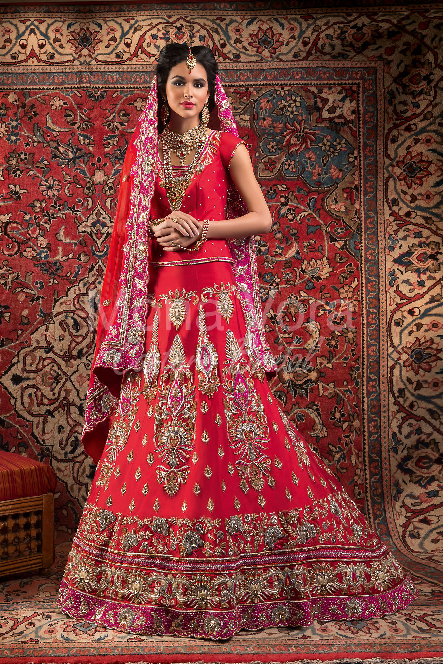 Item Code Br037 Asian Bridal Wear Fusion Dresses By