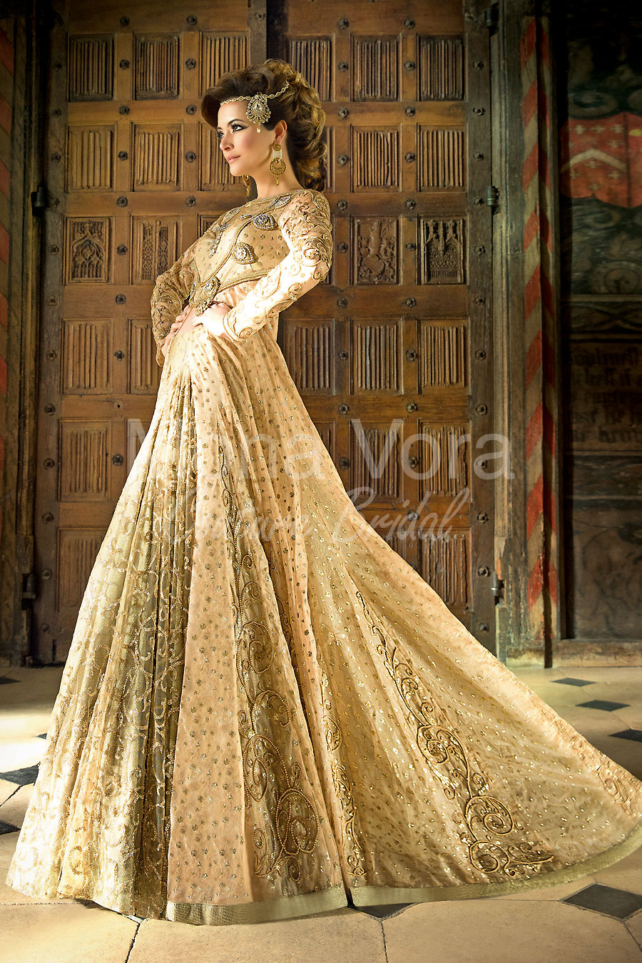 Item Code Bw163 Asian Bridal Wear Fusion Dresses By