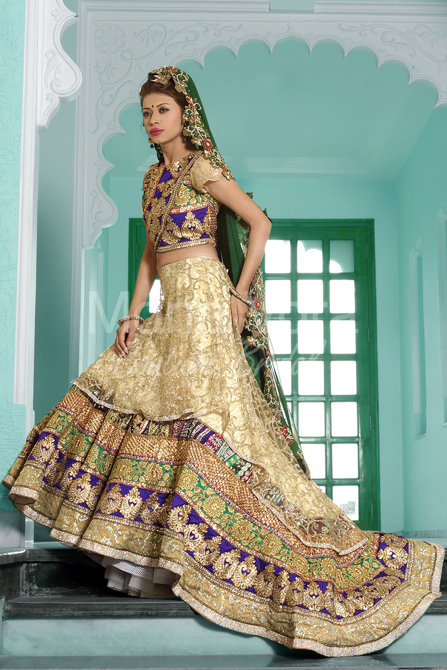Buy Indian Bridal Combination Dress, Traditional Groom Brides ...