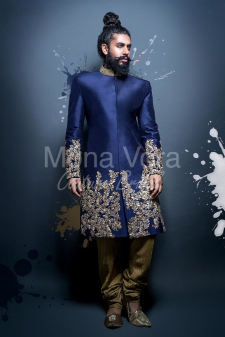 b84ccaa491 Mens Wedding Suits Online. Asian Grooms Fusion Wear